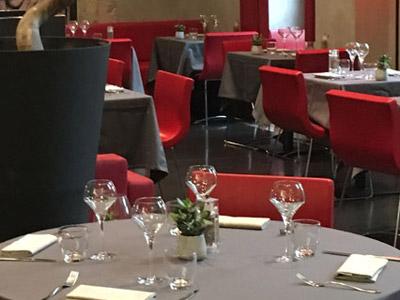 La salle de restaurant des Jardins de Sainte Cécile