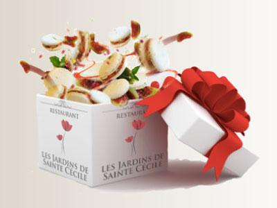 Chèques Cadeaux restaurant Jardins de Sainte Cécile Grenoble
